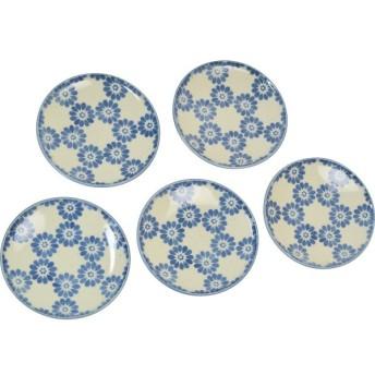 花小路 小皿5枚組 和陶器 和陶皿 小皿セット MC1620‐1 代引不可