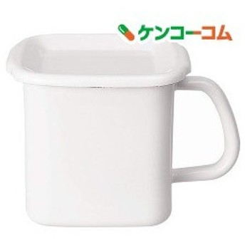 野田琺瑯 ホワイトシリーズ 持ち手付きストッカー 角型 Lサイズ 琺瑯蓋付 MSH-12K ( 1コ入 )/ ホワイトシリーズ(White Series)