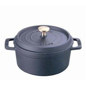 ストウブ staub ピコ ココット ラウンド 10cm 黒 40500-101 RST3401