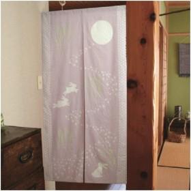 ユニベール ノレン インドメンうさぎ PI/85x150cm  ピンク/幅85×高150cm