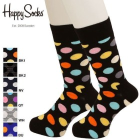 40%OFF【メール便(10)】 (ハッピーソックス)HAPPY SOCKS BIG DOT クルー丈 レギュラー ソックス 靴下 23-25.5cm 26-29.5cm