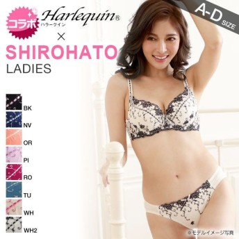 Harlequin×SHIROHATO コラボ ビクトリア調刺繍ブラショーツセット