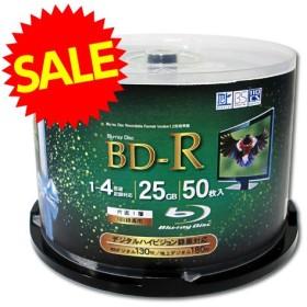 『特価』Lazos BD-R 50枚 1-4倍速 1回記録用 スピンドル