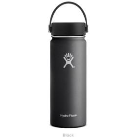 ハイドロフラスク Hydro Flask 18 oz Wide Mouth Black 18オンス ワイドマウス ブラック ボトル 保温 魔法瓶