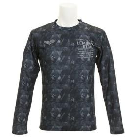 デュアリグ(DUARIG) ドライプラスUV 総柄ロングスリーブTシャツ 863D7HD3001 BLK (Men's)