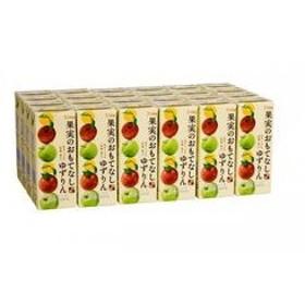 シャイニー 青森の味! ミックスジュース 果実のおもてなし ゆずりん スリムパック 200ml【24本】 目安在庫=○