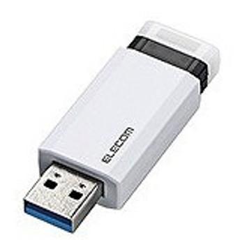 エレコム ELECOM USBメモリー[16GB/USB3.1/ノック式] MF−PKU3016GWH ホワイト