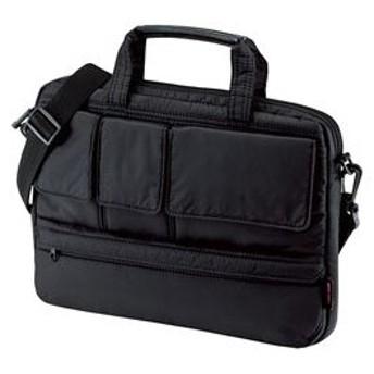 アウトレット ブリーフケース 超軽量PCケース 12.1インチ ワイド ブラック ビジネスバッグ メンズ カバン 収納 鞄 取っ手 ショルダー アウトレット 訳あり