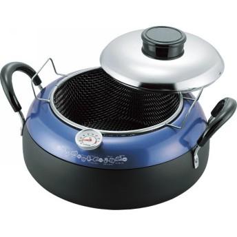 温度計付天ぷら鍋 27 cm 鍋ケトルフライパン 鉄鍋調理器 温度計付き天ぷら鍋 BKTP-500 代引不可