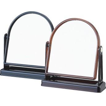 天丸型スタンドミラー べっ甲色 室内装飾品 鏡 置鏡 Y-2006 代引不可