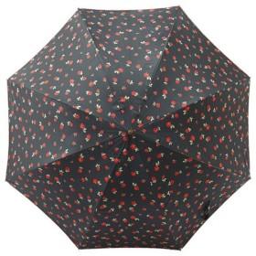 雨天兼用婦人深張ローズプリントワンタッチ傘 雑貨 ホビー インテリア 雑貨 雑貨品