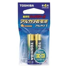 東芝 アルカリ電池 単4 2本入 1 パック LR03AG-2EC 文房具 オフィス 用品