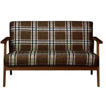 プレードソファ PLAID チェック柄 ナチュラル 天然木 腰かけ 椅子 いす リビング 代引不可