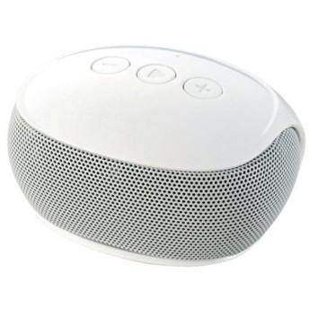 ワイヤレススピーカー エレコム ELECOM Bluetoothモノラルスピーカー ホワイト LBT-SPP20WH ネコポス不可