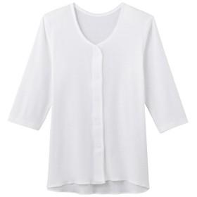 グンゼ 愛情らくらく 7分袖ワンタッチインナー HW0134 ホワイト Sサイズ 女性用肌着 婦人用肌着