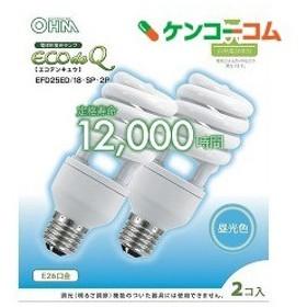 電球形蛍光灯 エコデンキュウ スパイラル形 E26 100形相当 昼光色 06-0280 ( 2コ入 )