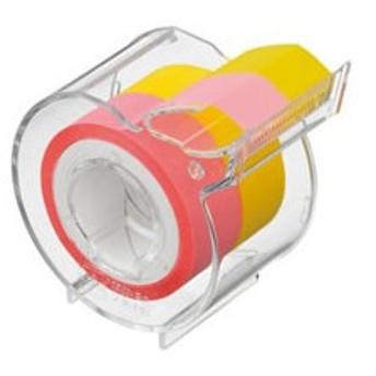 ヤマト/メモックロールテープフィルムタイプ15mm幅ピンク+イエロー/RF-15CH-6EN
