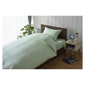 生毛工房(うもうこうぼう) スーピマ敷ふとんカバー シングルサイズ(綿100%/グリーン)「日本製」 M54‐1052‐SS‐GR(105