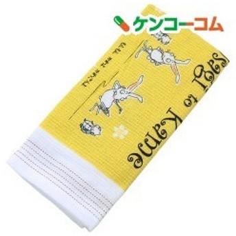 今治産 布ごよみ フェイスタオル ウサギとカメ イエロー 34261 ( 1枚入 )