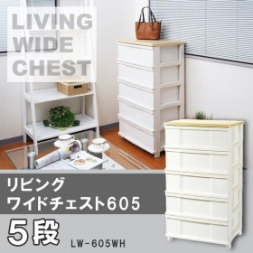 LIVING WIDE CHEST リビングワイドチェスト605 5段 LW-605WH