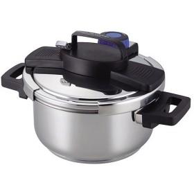 パール金属(株) 3層底ワンタッチレバー圧力鍋 4.0L/H-5388 4.5L