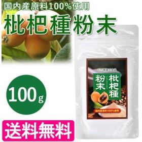 枇杷種粉末 100g サプリメント 九州産びわ種100% 健康食品 琵琶 飲料 国内産