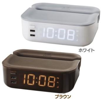 BRUNOオーバーナイターアラームクロック 電波時計