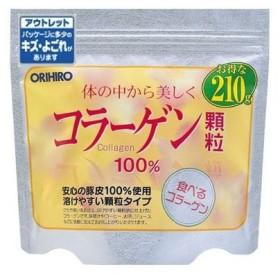 【数量限定】[オリヒロ]コラーゲン100%顆粒210g[アウトレット](賞味期限:2019年2月17日まで)