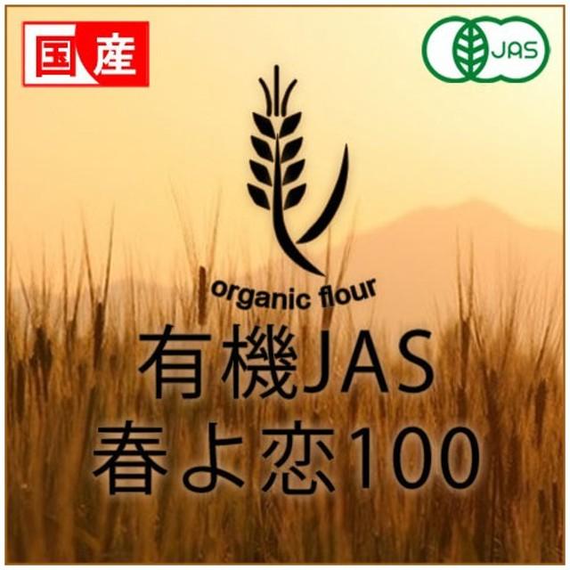 有機JAS 国産小麦粉 春よ恋100 北海道産 2.5kg 賞味期限2019年10月20日