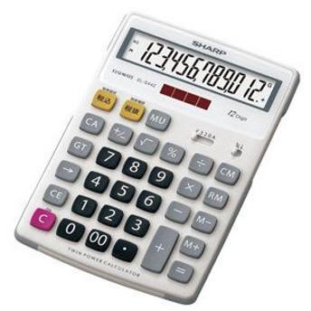 シャープ ラバーフィット電卓ナイスサイズ12桁 EL-S442X