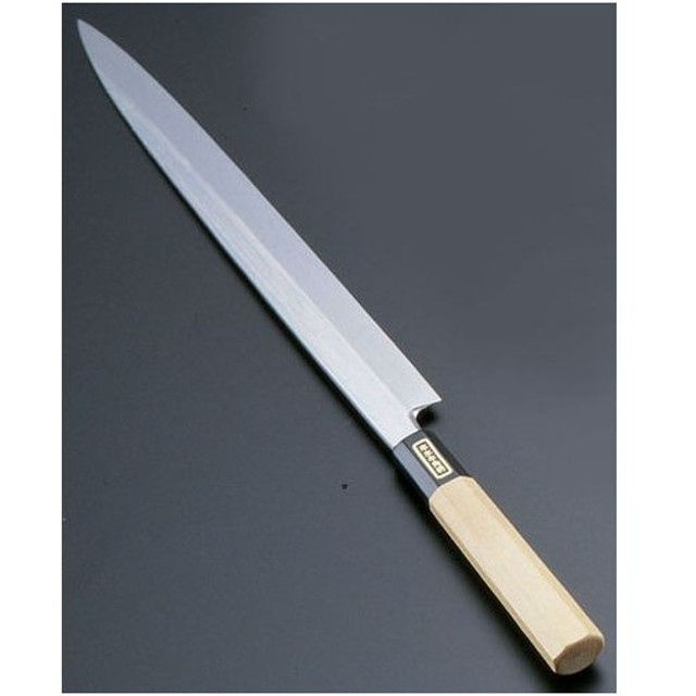 遠藤商事 SA佐文 本焼鏡面仕上 柳刃 木製サヤ 30cm ASB51030