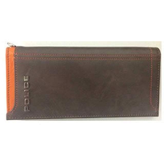POLICE(ポリス) AXIS 長財布 チョコ PA-58301-29[【並行輸入品】メール便不可】