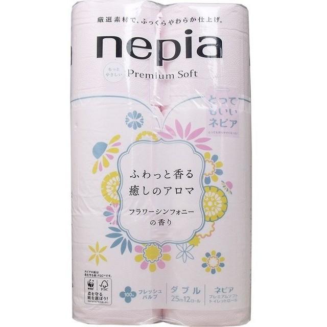 ネピア プレミアムソフト トイレットペーパーダブル フラワーシンフォニーの香り 12ロール ペーパー類