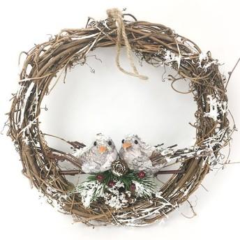 クリスマス先行SALE!クリスマス ディスプレイ ナチュラルリース ナチュラルバード&パインコーン 81729