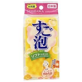 東和産業 日本製 すご泡スポンジ スリム ソフト オレンジ
