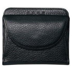 オフィススリーワークス  良品工房 日本製手作り牛革二つ折財布 ブラック B0110-201B