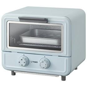 TIGER タイガー オーブントースター やきたて ぷちはこ KAO-A850 A ブルー クックブック付き