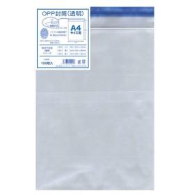 菅公工業 OPP透明封筒 厚口 A4 100枚入 1 パック シ920 文房具 オフィス 用品