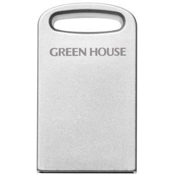 【在庫目安:お取り寄せ】グリーンハウス GH-UF3MB64G-SV アルミボディ小型USB3.1(Gen1)メモリー 64GB シルバー