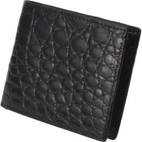 ファゴット クロコダイル 二つ折り札入 ブラック 装身具 財布 MJ-09W BLACK 代引不可
