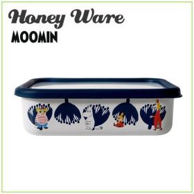 Honey Ware(ハニーウェア)ムーミンポーセリンエナメルシリーズ MTA-L 浅型角容器 L 富士ホーロー