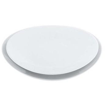 磁器 中華・洋食兼用食器 白楕円深皿 25cm