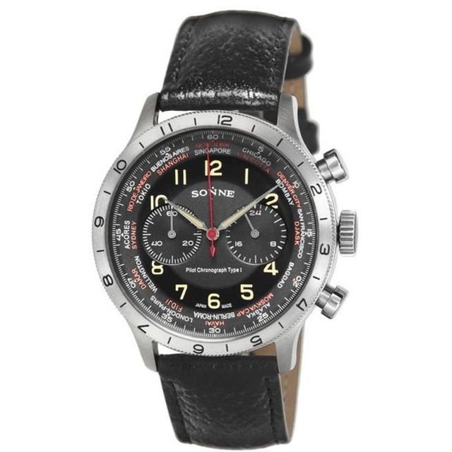 SONNE ゾンネ HI003BK-BK ブランド 時計 腕時計 メンズ 誕生日 プレゼント ギフト カップル 代引不可