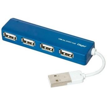 ナカバヤシ UH-2444BL USB2.0 4ポートハブ ブルー