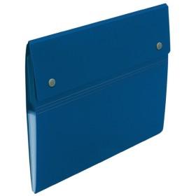 プラス(PLUS)ドキュメントファイル アコーディオンホルダー 6ポケット ブルー FL-115CH 88-771