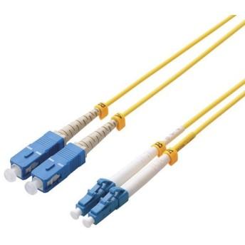 【在庫目安:お取り寄せ】ELECOM OC-LCSC1/1 光ファイバーケーブル/ シングルモード/ LC-SC/ 1m