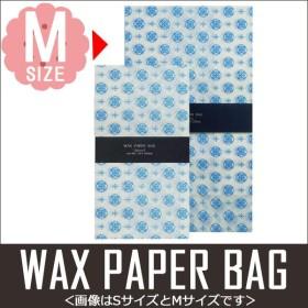 ワックスペーパーバッグ 角底タイプ 三和蝋紙所 幾何学 ホワイト Mサイズ 5枚入り SWK-04WH