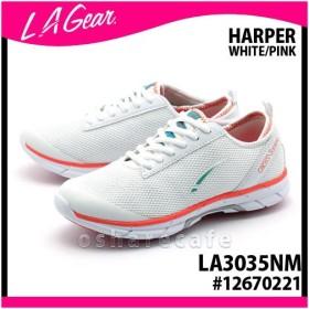 エルエーギア HARPER クロストーニング (WHITE/PINK) 23.5cm #12670221[LA3035NM][LA GEAR・LAギア][スニーカー シューズ レディース][送料無料](TN332-1)