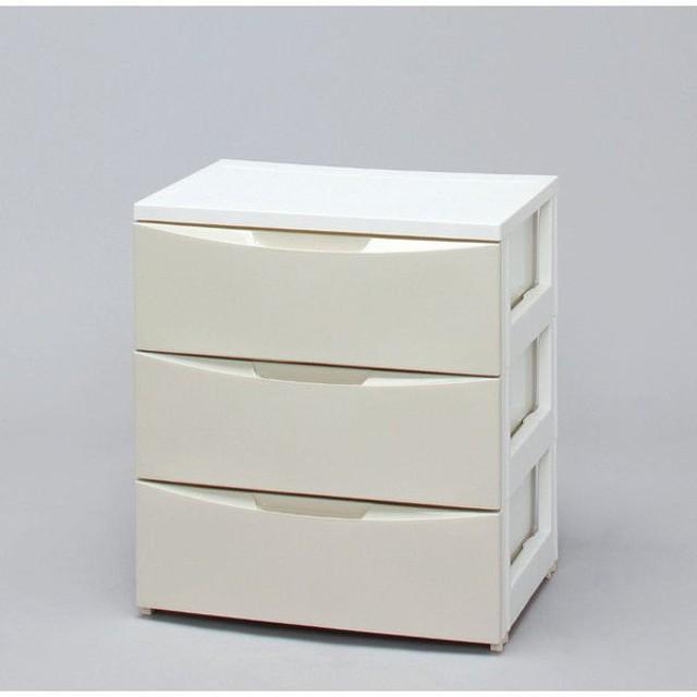 アイリスオーヤマ ワイドチェスト CODシリーズ ホワイト/アイボリー COD-553