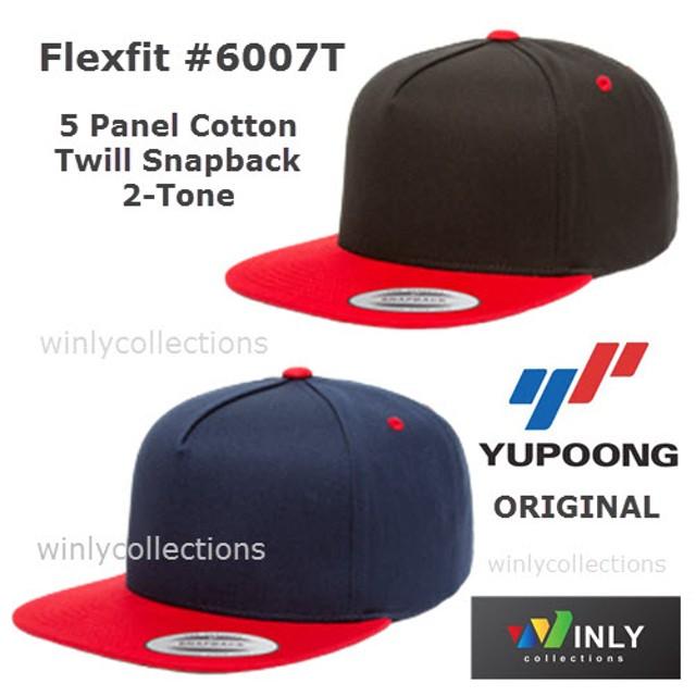 Topi Flexfit 5 Panel Cotton Twill Snapback 2-Tone 6007T ORIGINAL  Rp 115.000 672dd0c909